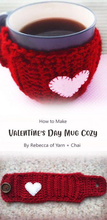 Valentine's Day Mug Cozy By Rebecca of Yarn + Chai