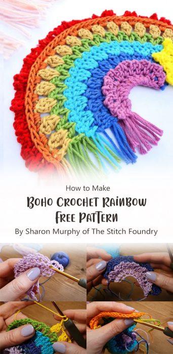 Boho Crochet Rainbow Free Pattern By Sharon Murphy of The Stitch Foundry