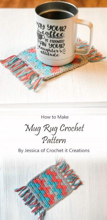 Mug Rug Crochet Pattern By Jessica of Crochet it Creations