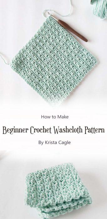 Beginner Crochet Washcloth Pattern By Krista Cagle