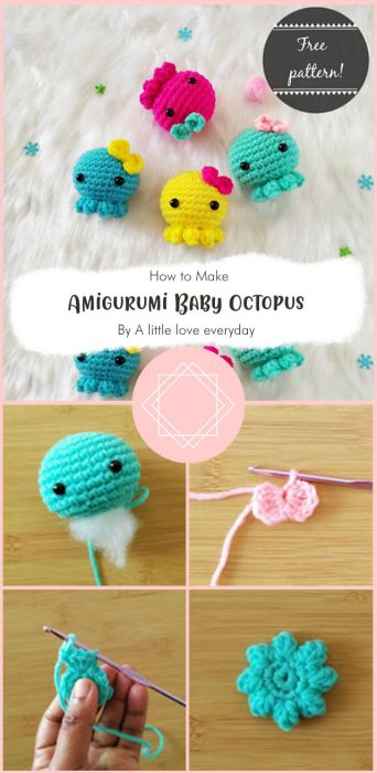 Amigurumi Baby Octopus By A little love everyday