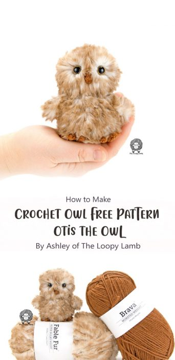Crochet Owl Free Pattern – Otis the Owl By Ashley of The Loopy Lamb