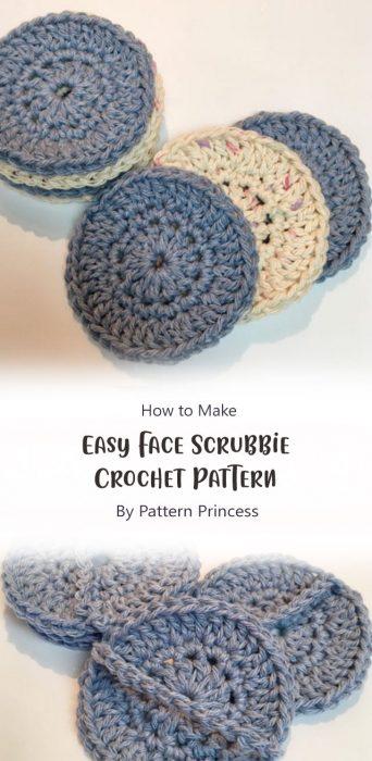 Easy Face Scrubbie Crochet Pattern By Pattern Princess