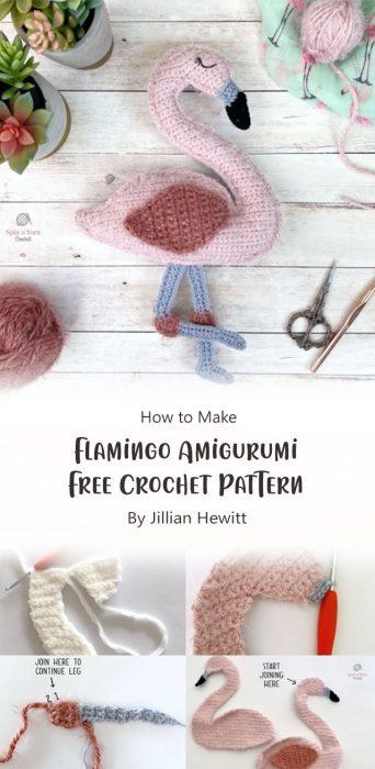 Flamingo Amigurumi Free Crochet Pattern By Jillian Hewitt