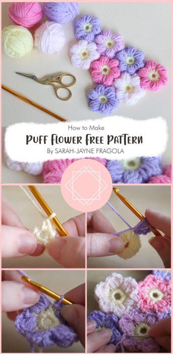 Puff Flower Free Pattern By SARAH-JAYNE FRAGOLA