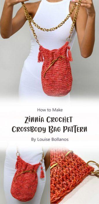 Zinnia Crochet Crossbody Bag Pattern By Louise Bollanos