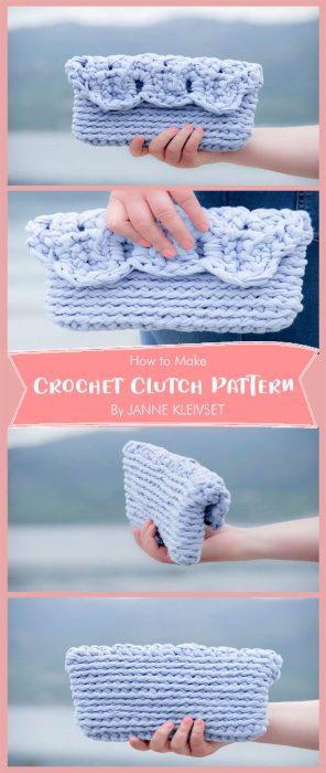 Crochet Clutch Pattern By JANNE KLEIVSET