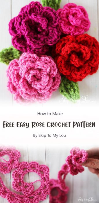 Free Easy Rose Crochet Pattern By Skip To My Lou