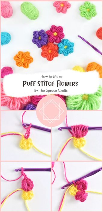 How to Crochet Puff Stitch Flowers By The Spruce Crafts