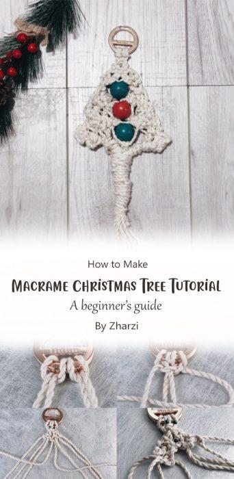 Macrame Christmas Tree Tutorial - A beginner's guide By Zharzi
