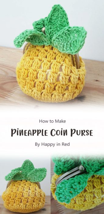 Pineapple Coin Purse By Happy in Red