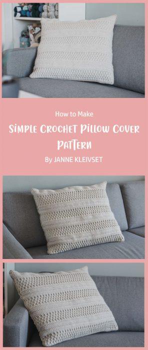 Simple Crochet Pillow Cover Pattern By JANNE KLEIVSET