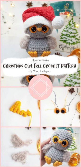 Christmas Owl Free Crochet Pattern By Yana Lisitsyna