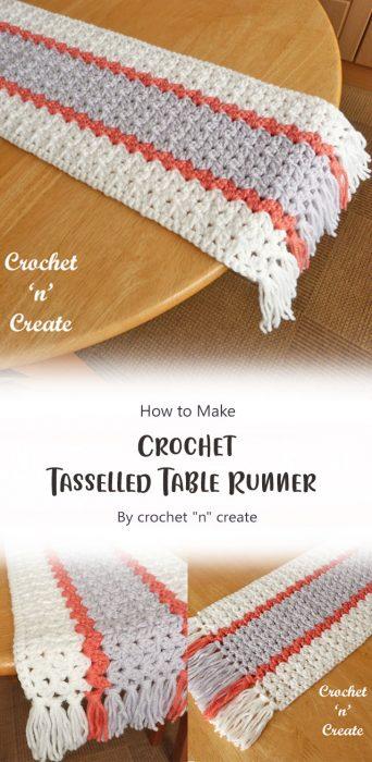 """Crochet Tasselled Table Runner By crochet """"n"""" create"""