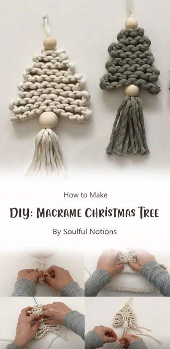 DIY: Macrame Christmas Tree By Soulful Notions