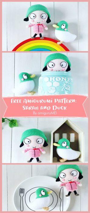 Free Amigurumi Pattern: Sarah and Duck By amiguruMEI