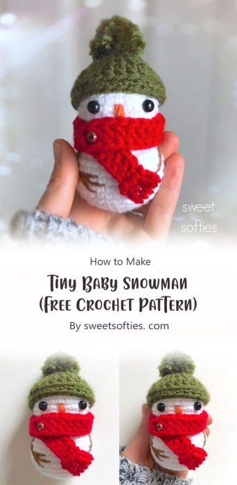 Tiny Baby Snowman (Free Crochet Pattern) By sweetsofties. com