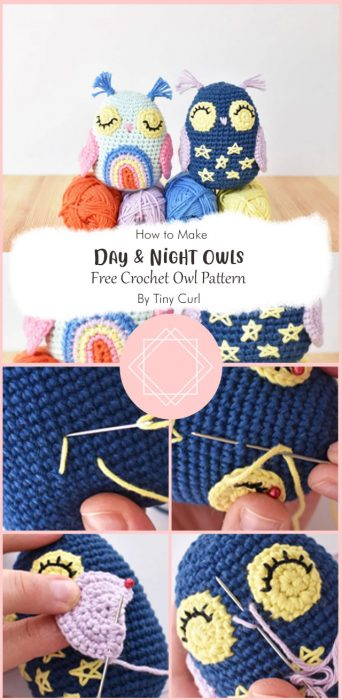 Day & Night Owls | Free Crochet Owl Pattern By Tiny Curl