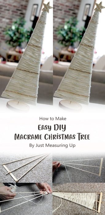Easy DIY Macrame Christmas Tree By Just Measuring Up