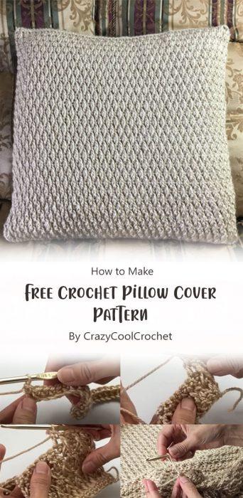 Free Crochet Pillow Cover Pattern By CrazyCoolCrochet