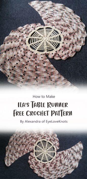 Ila's Table Runner - Free Crochet Pattern By Alexandra of EyeLoveKnots