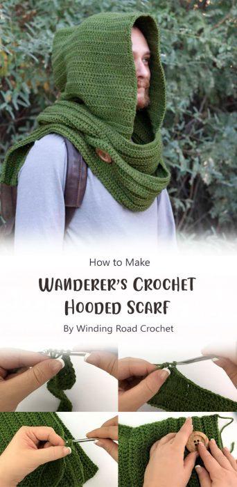 Wanderer's Crochet Hooded Scarf By Winding Road Crochet