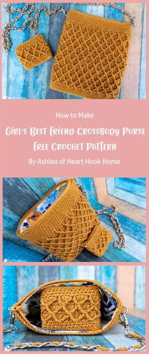 Girl's Best Friend Crossbody Purse: Free Crochet Pattern By Ashlea of Heart Hook Home