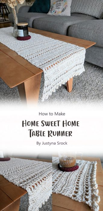 Home Sweet Home Table Runner By Justyna Srock