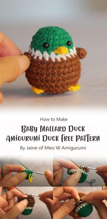How To Crochet Baby Mallard Duck – Amigurumi Duck Free Pattern By Jaine of Meo W Amigurumi