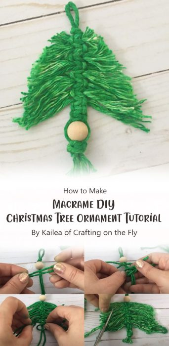 Macrame DIY Christmas Tree Ornament Tutorial By Kailea of Crafting on the Fly