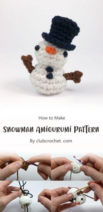 Snowman Amigurumi Pattern By clubcrochet. com