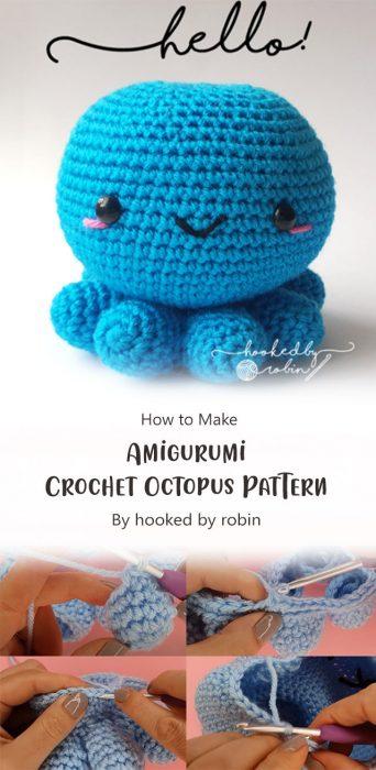 Amigurumi Crochet Octopus Pattern By hooked by robin
