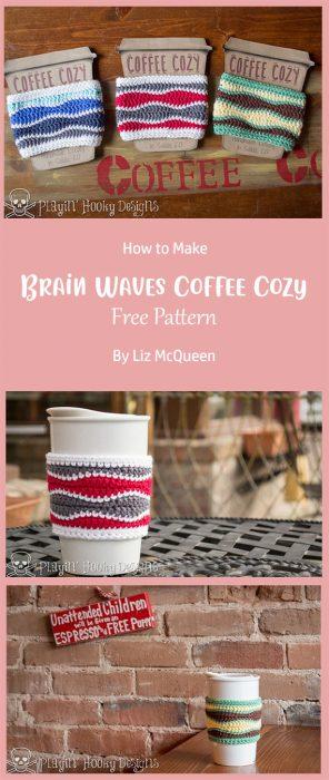 Brain Waves Coffee Cozy By Liz McQueen