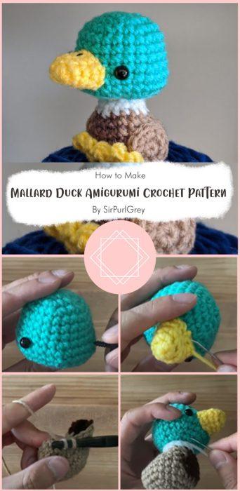 Mallard Duck Amigurumi Crochet Pattern By SirPurlGrey