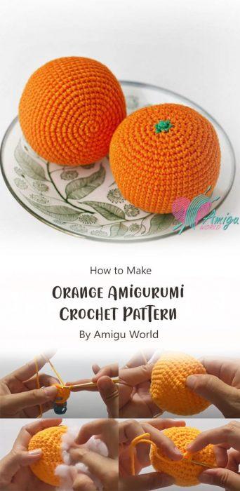 Orange Amigurumi Crochet Pattern By Amigu World