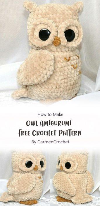 Owl Amigurumi – Free Crochet Pattern By CarmenCrochet